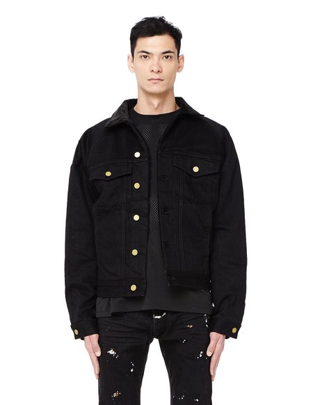 Fear of God Selvedge Denim Alpaca Trucker Jacket - BLACK