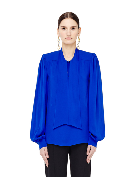 Maison Margiela Ascot Collar Silk Blouse