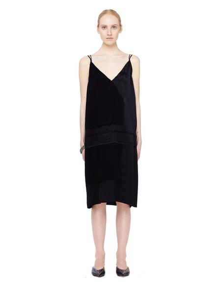 Urban Zen Silk Slip Dress - Black