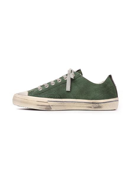 Golden Goose  Suede Low Sneakers - Distressed Green