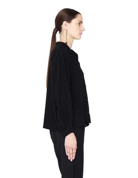 Blackyoto VINTAGE Dyed Silk Embroidered Shirt - Black