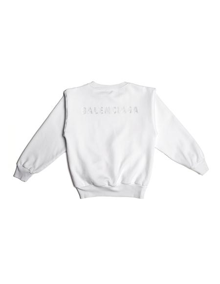 Kids Balenciaga Embroidered Sweatshirt - White