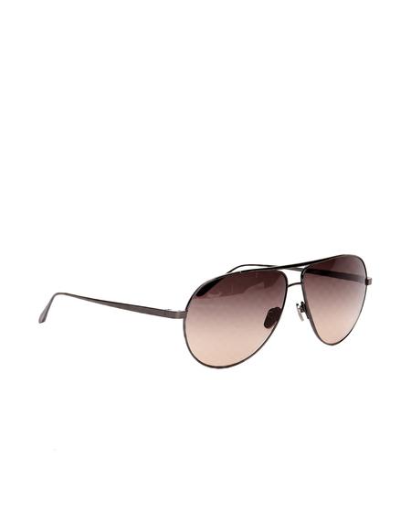 Linda Farrow Luxe Aviator Sunglasses - Brown