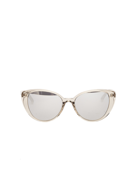 Linda Farrow Luxe Clear Cat Eye Sunglasses - Gray