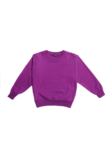 Kids Balenciaga Logo Sweatshirt - Purple