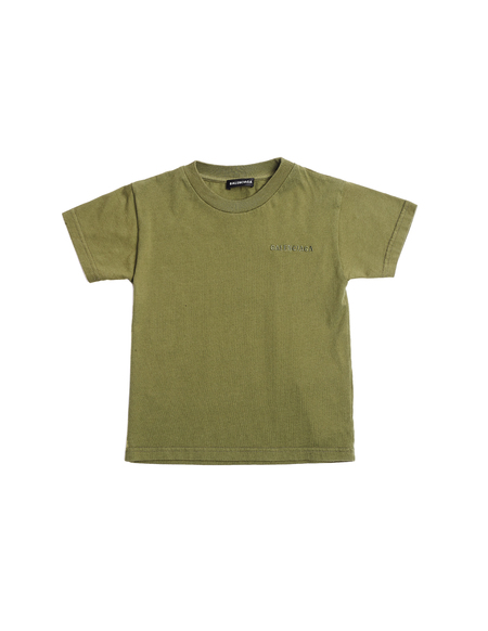 Kids Balenciaga Embroidered T-Shirt - Green