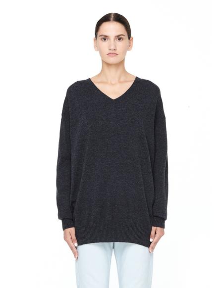 Junya Watanabe Oversized Wool V-neck Sweater - Gray