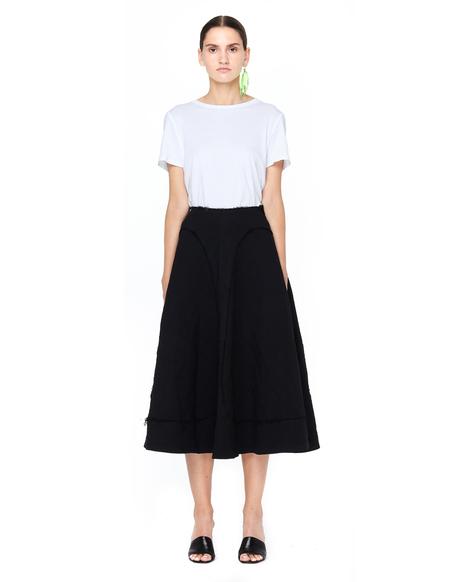 Comme des Garçons Midi Skirt - Black