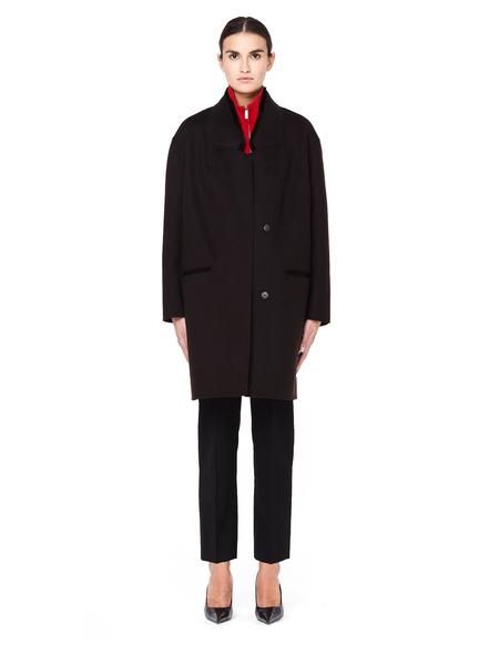 32 Paradis Fur and Cashmere Coat with Fur Collar - brown