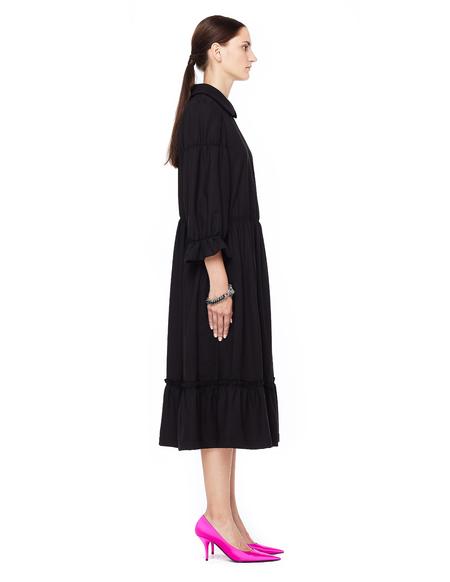 Comme des Garcons Round Collar Midi Dress - Black