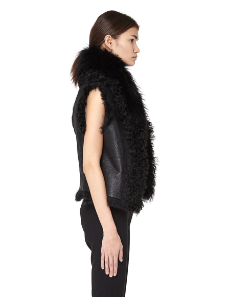 L.G.B. Fur Vest - Black