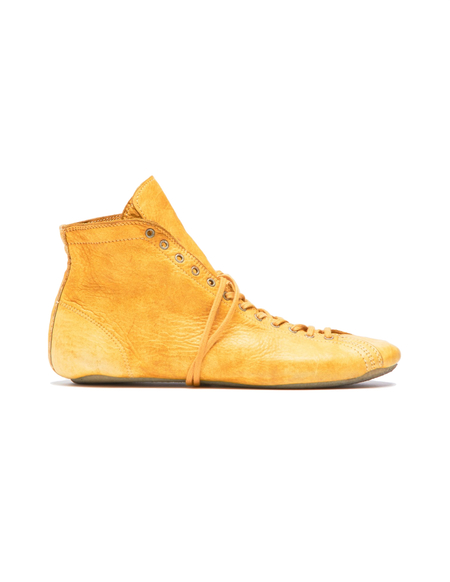 Guidi Leather Sneakers - Yellow