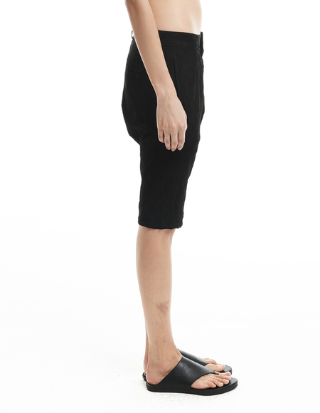 Backlash Suede shorts - BLACK