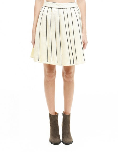 KTZ Wool Skirt - White