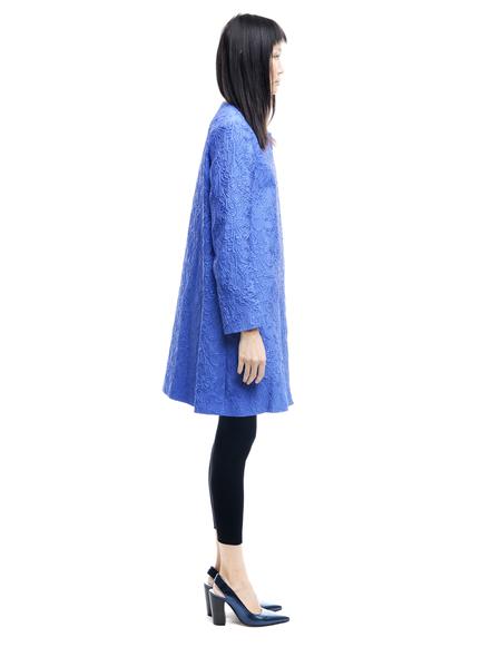Mary Katrantzou Polyester And Silk Coat - Blue