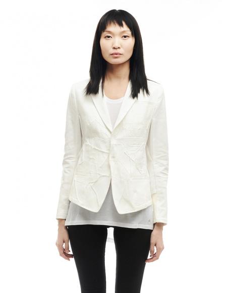 Y's by Yohji Yamamoto Cotton and Linen Jacket - White