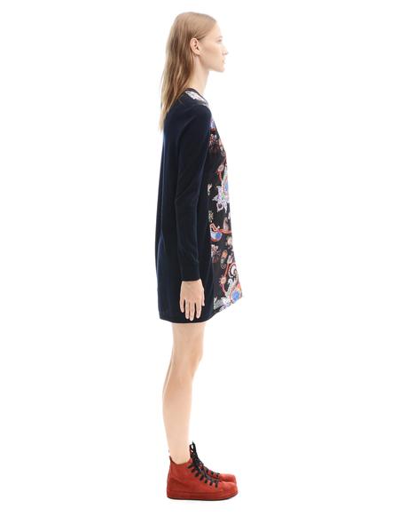 Mary Katrantzou Mini Wool Dress - Paisley Print