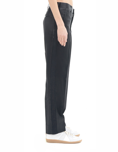 Comme des Garçons Wool and silk trousers - BLACK
