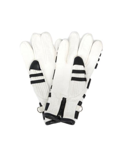 KTZ Leather Gloves - Black/White