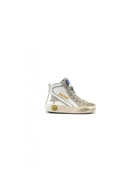 Kids Golden Goose Leather Hi-top Sneakers