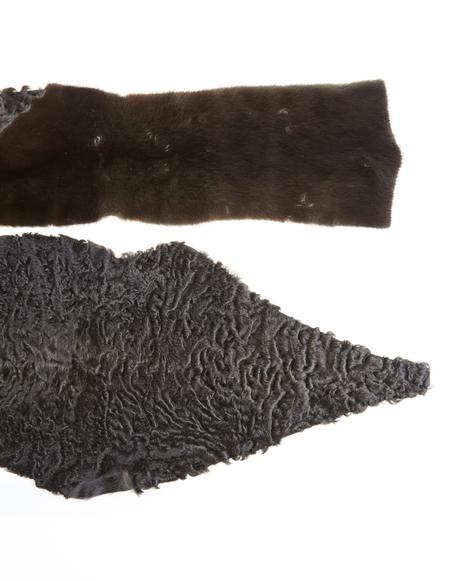 32 Paradis Astrakhan and mink fur scarf - brown