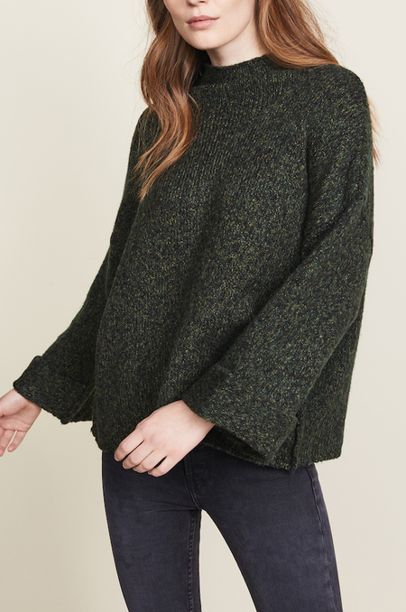 Line the Label Funnel Neck Kira Swing Sweater - Crocodile