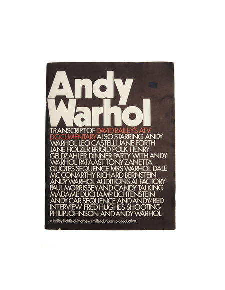 Books Andy Warhol: Transcript of David Bailey's ATV Documentary