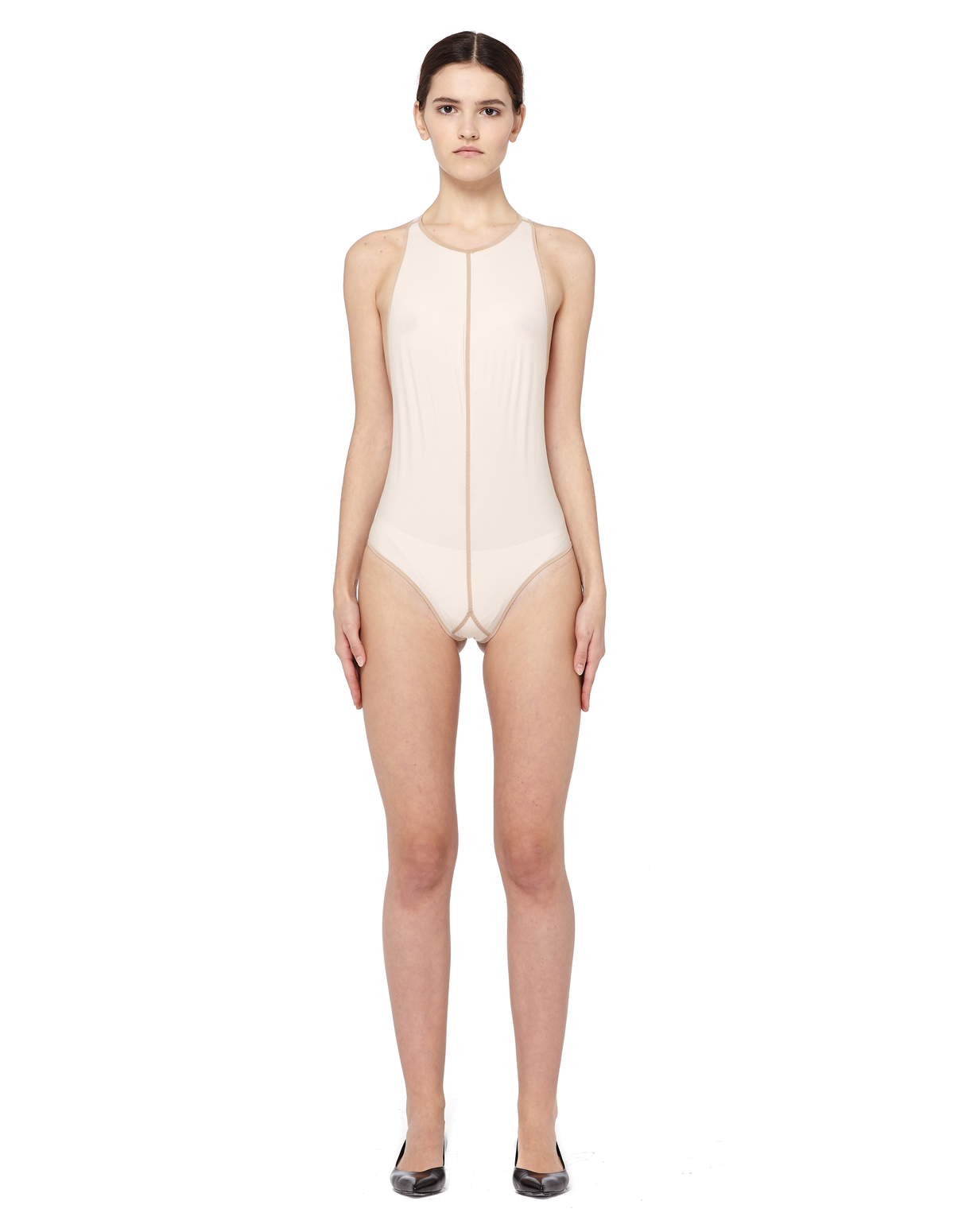 7393a104fd Ann Demeulemeester Open Back Bodysuit - Beige