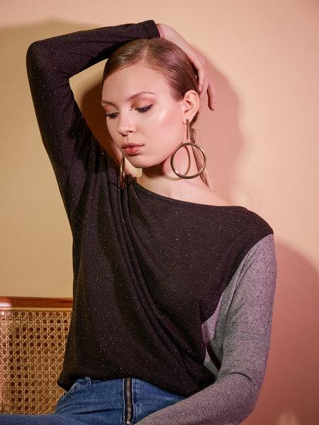 Eve Gravel Balsam Top - BLACK/GRAY