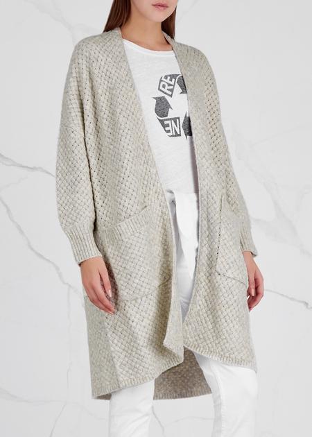 Line the Label Gloria Basket Weave Cardigan - GRAY