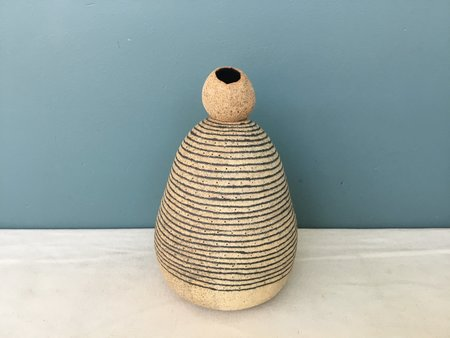 Jennifer Joh Clay Sculpture Vase - Brown
