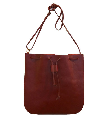 d/e goods Leather Tote - Oxblood