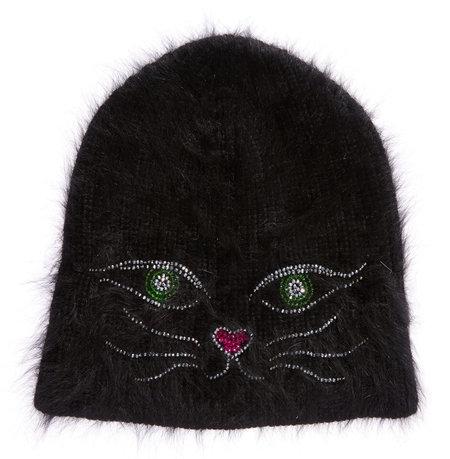 Jennifer Behr Kitty Beanie - BLACK