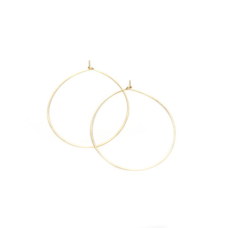 Mary MacGill Hammered Hoops (3 sizes) - 14k Gold