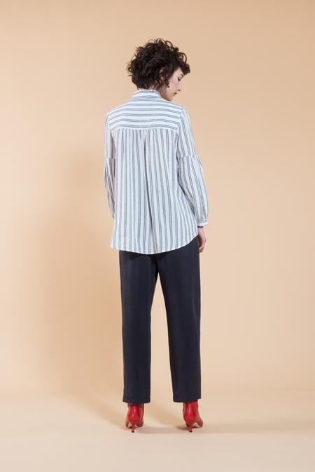 Jennifer Glasgow Aretha Blouse - black/white stripe
