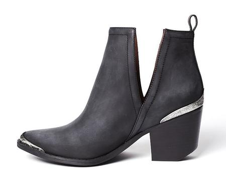 Jeffrey Campbell Cromwell Boot - Black Distressed