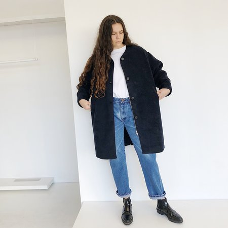 Kloke Faux Shearling Jacket - Navy