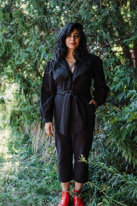 Samantha Pleet Divination Jumpsuit - Black