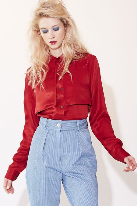Kurt Lyle Cindy Blouse - Red