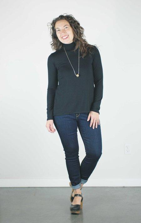 Sarah Liller Holly Turtleneck Top - Black