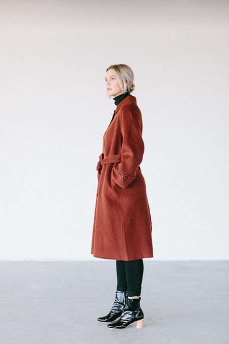 Achro Mijeong Park Single Breasted Wool Handmade Coat