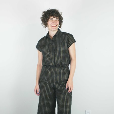 Corey Lynn Calter Malia Jumpsuit - Copper/Black Grid
