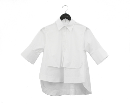 Carven Cropped Poplin Shirt - White
