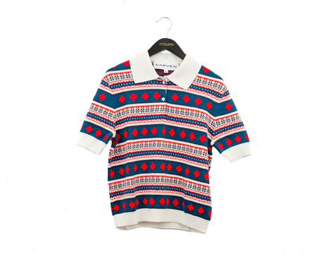 Carven Geometric Jacquard Polo Shirt - Multicolor