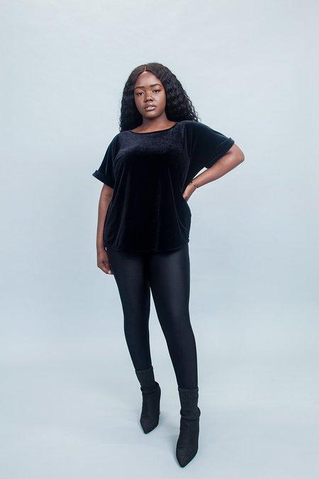 Sara Duke YFS Classic Length Velvet Top - Black