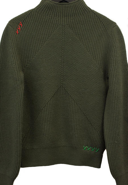 Carven Ribbed Knit Sweater  - Green