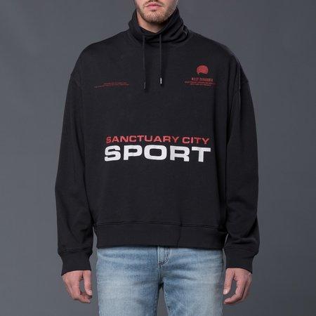 Willy Chavarria Heavy Buffalo Ski Neck Sweatshirt - Black