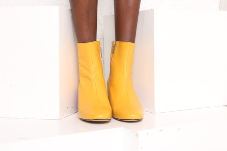 """INTENTIONALLY __________."" Shop Boot - Yellow/Purple"