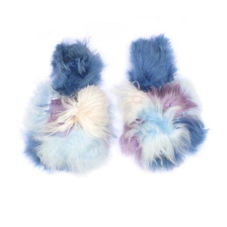 Ariana Bohling Suri Multi Alpaca Slipper - Blue