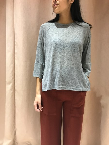 EVE GRAVEL EPICEA BLOUSE - GRAY